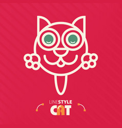 Line style cat vector