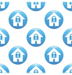 Locked house sign pattern vector image