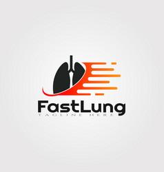 Lung logo designhealthcare and medical icon vector