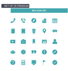 mix icons set vector image