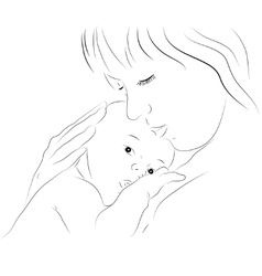 Mother and newborn vector
