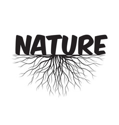nature text and idea concept with leaves and vector image