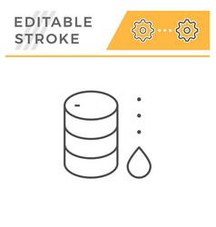 Oil barrel line icon vector