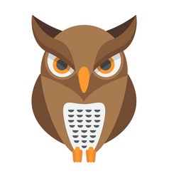 owl flat icon halloween and scary animal sign vector image