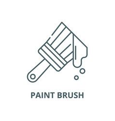 paint brush line icon linear concept vector image