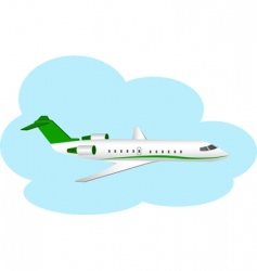 plane and clouds vector image