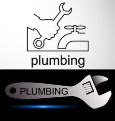 Plumbing symbol service vector