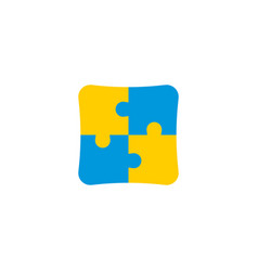 puzzle icon flat element of vector image