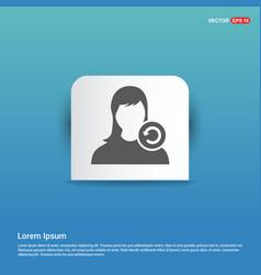 Reload user icon - blue sticker button vector