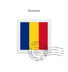 Romania Flag Postage Stamp vector