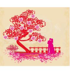 Romantic couple card vector