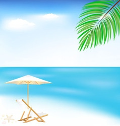 sea and beach vector image