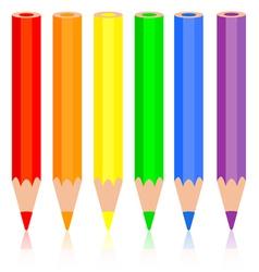 Set of colored pencil a rainbow pencil near vector image