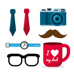 set of father things usually to use vector image
