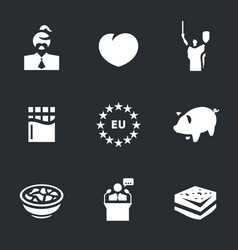 Set of ukraine icons vector