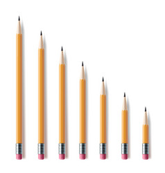 sharpened pencils set sharp writing and drawing vector image