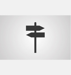 sign post icon sign symbol vector image