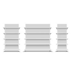 supermarket shelfs mockup vector image