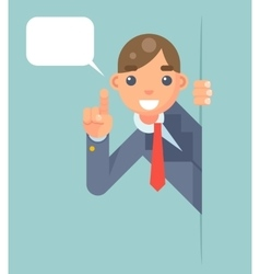 Support Help Looking Out Corner Idea Cartoon vector image