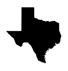 Texas state of usa - solid black silhouette map vector
