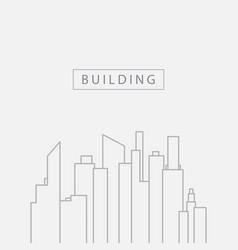 Tower building template design logo vector