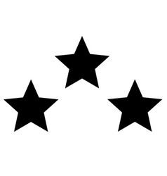 triple star icon on white background flat style vector image