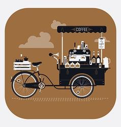 Vintage Coffee Cart vector