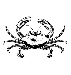 Vintage crab template vector
