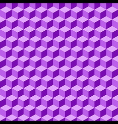 Violet Geometric Volume Seamless Pattern vector image