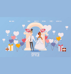 wedding ceremony organization website vector image