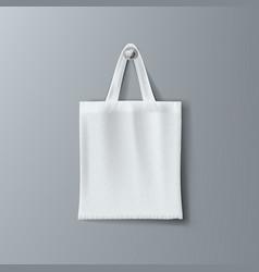 White fashon eco cotton shopping hipster bag vector