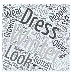 Winter dresses Word Cloud Concept vector