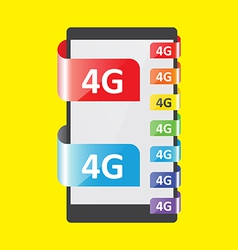 4G connection colors feature vector image vector image