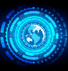abstract global technology background vector image