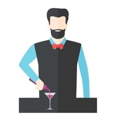 Bartender barman vector image