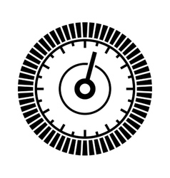 Dial sign template with segmented level indicator vector