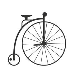 Retro style vintage bike nineteenth century vector image