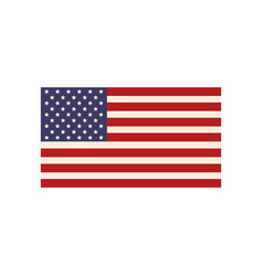 united states of america flag symbol national vector image