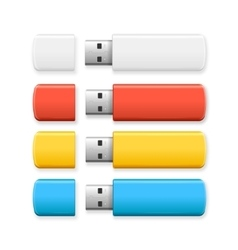 USB Flash Drive Colorful Set vector image vector image