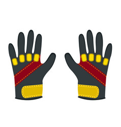 winter gloves for extreme sports - snowboard vector image