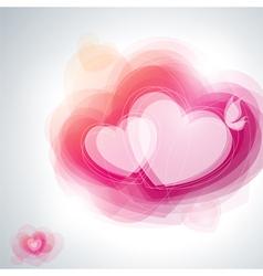 Abstract pink hearts vector image vector image