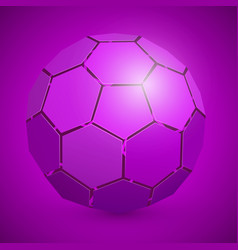 abstract soccer 3d ball purple vector image