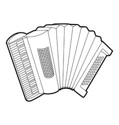 Accordion icon outline isometric style vector