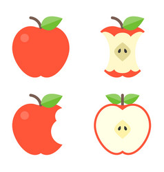 apple icons set vector image vector image