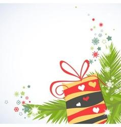 Christmas gifts corner decoration vector image vector image