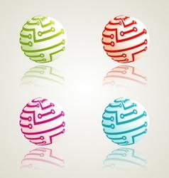 Global digital icons vector image vector image