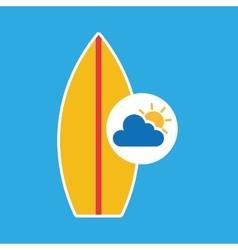 summer vacation design surfboard vector image