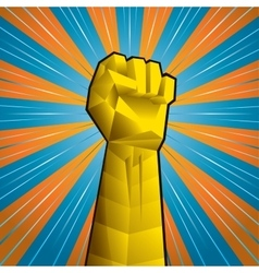 Hand with clenched fist vector image vector image