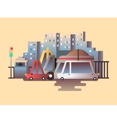 Road traffic design flat vector image vector image
