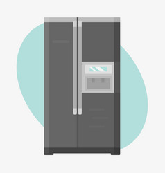 stainless refrigerator with fashion industrial vector image vector image